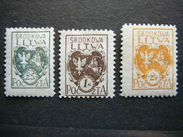 Central Lithuania Lietuva Litauen Lituanie Litouwen # 1921 MH # Mi. 20/2A - Lituanie
