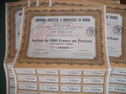 Guyane Française - 5 Actions 500 Francs - Compagnie Forestière Et Commerciale Du Maroni -1923 - Industrie