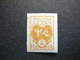 Central Lithuania Lietuva Litauen Lituanie Litouwen # 1921 MH # Mi. 22B - Lituania