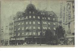 """57 - METZ - Vue Animée Devant L'Hôtel """" Métropole """" ( Tampon De L'Hôtel ) - Metz"""