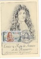 Carte Maximum 1970 Louis XIV - Maximumkaarten