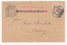 G. G. Koch's Söhne Company Card Travelled 1901 Trifail (Trbovlje) To Gornji Grad B190401 - Slovenia