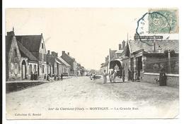 Oise Environs De Clermont MONTIGNY La Grande Rue Animation Attelage  .....G - Clermont