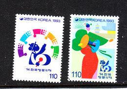 Corea Sud - 1993. Suonatori Di Tamburo. Drummers. Complete MNH Series - Musica