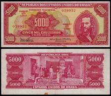 BRASILIEN - BRAZIL 5000 Cruzeiros Banknote VF (3) Pick 182A (23895 - Banknoten