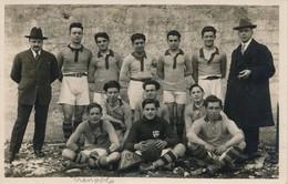 """I98 - 38 - GRENOBLE - Isère - L'équipe De Football De Grenoble - """"Aux Trois Roses"""" - Grenoble"""