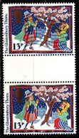 ENGLAND GREAT BRITAIN [1986] MiNr 1091 ( O/used ) [01] Zwischensteg Gutter Pair - 1952-.... (Elisabeth II.)