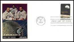 5231/ Espace (space) Lettre (cover) 5/1/1969 Apollo 8 Fdc USA - Briefe U. Dokumente