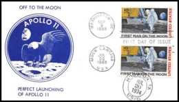5300/ Espace (space) Lettre (cover) 9/6/1969 Apollo 11 Off The Moon Perfect Launching Fdc USA - Briefe U. Dokumente
