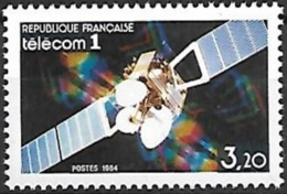 France - 1984 Yt 2333  Satellite Telecom - Frankrijk