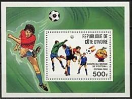 Cote D' Ivoire 1982 Yvertn° Bloc 19 *** MNH Cote 4,50 Euro  Coupe Du Monde Espagne - Côte D'Ivoire (1960-...)