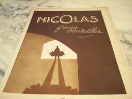 ANCIENNE PUBLICITE FINES BOUTEILLES  NICOLAS 1930 - Alcools