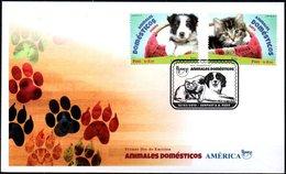 Peru 2019 ** SPD. Upaep 2018 Animales Domésticos: Perro Y Gato En Una Canasta. Mascotas. - Pérou