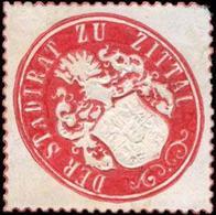 Zittau: Der Stadtrat Zu Zittau Siegelmarke - Cinderellas
