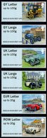 Guernsey - 2019 - Old Car Club - Post & Go - Mint Self-adhesive ATM Stamp Set - Guernsey
