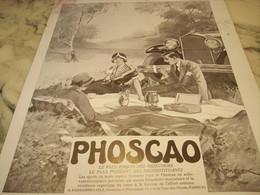 ANCIENNE PUBLICITE PIQUE NIQUE CHOCOLAT PHOSCAO 1932 - Affiches
