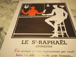 ANCIENNE PUBLICITE ST RAPHAEL QUINQUINA  1932 - Afiches