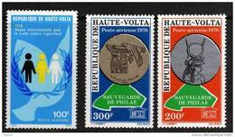 Haute Volta P.A. N° 219 + 222 / 23 XX  Les 3 Valeurs  Sans Charnière TB - Upper Volta (1958-1984)