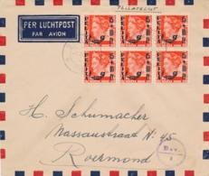 Nederlands Indië - 1948 - 6x Pelita-opdruk In Blok Op Cover Met Noodstempel Batavia En Deviezencensuur Naar Roermond - Niederländisch-Indien