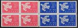 1961 GRECE 753-54** Europa, Blocs De 4 - Greece