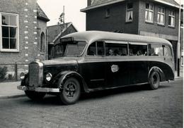Autobus, Mercedes/werkspoor, WSM 240, Wateringen, Plein, 1946, SVA Foto - Auto's