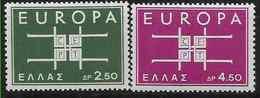 1963 GRECE 799-800** Europa - Greece
