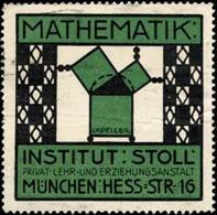 München: Institut Für Mathematik Reklamemarke - Erinnophilie