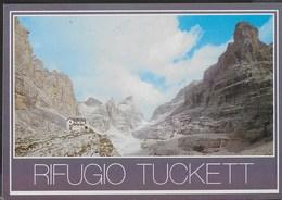 DOLOMITI DI BRENTA - RIFUGIO TUCKETT - TIMBRO DEL RIFUGIO - VIAGGIATA 1988 - Alpinisme