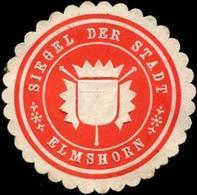 Elmshorn: Siegel Der Stadt - Elmshorn Siegelmarke - Cinderellas