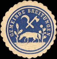Breitungen: Gemeinde Breitungen Siegelmarke - Vignetten (Erinnophilie)
