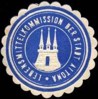 Altona: Lebensmittelkommission Der Stadt Altona Siegelmarke - Cinderellas