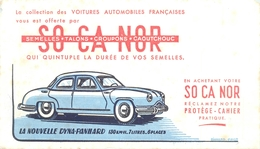 Buvard Ergé Pub SOCANOR (semelle, Talon) - Automobile Dyna-Panhard - Automotive