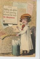 """BAYONNE - Jolie Carte à Système Colleur D'affiches """"Dépliez Cette Affiche Et Vous Verrez ... """" - Bayonne"""