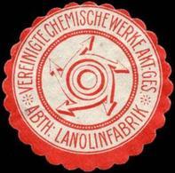 Vereinigte Chemische Werke Aktien - Gesellschaft - Abtheilung Lanolinfabrik Siegelmarke - Cinderellas
