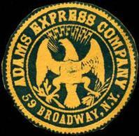 New York: Adams Express Company - New York Siegelmarke - Cinderellas