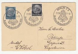 Berliner Weihnachtsmarkt 1936 Special Postmark On Postcard Travelled To Petrinja Yugoslavia B190401 - Deutschland