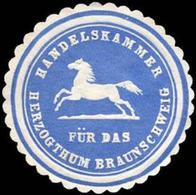 Braunschweig: Handelskammer Für Das Herzogthum Braunschweig Siegelmarke - Cinderellas