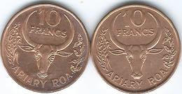 Madagascar - 1991 - 10 Francs / 2 Ariary - FAO (KM11a) & 1996 (KM22) - Madagascar