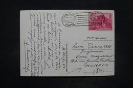 VATICAN - Affranchissement Plaisant Sur Carte Postale Pour Monaco En 1949 - L 26630 - Lettres & Documents