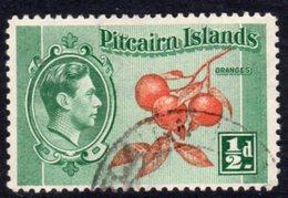 Pitcairn GVI 1940-51 ½d Oranges Definitive, Used, SG 1 - Stamps