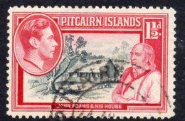 Pitcairn GVI 1940-51 1½d John Adams Definitive, Used, SG 3 - Stamps