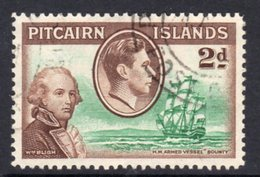 Pitcairn GVI 1940-51 2d Bligh & HMS Bounty Definitive, Used, SG 4 - Stamps