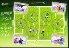 CP CARTE POSTALE FOOT FOOTBALL MONDIAL FIFA GERMANY 2006 ALLEMAGNE 21 X 14 CMS TIMBRES - Allemagne