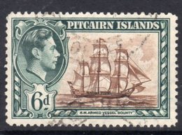 Pitcairn GVI 1940-51 6d HMS Bounty Ship Definitive, Used, SG 6 - Stamps