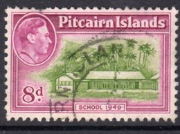 Pitcairn GVI 1940-51 8d School Definitive, Used, SG 6a - Stamps