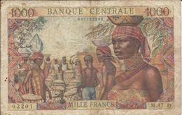 GABON  --  Etats De L'Afrique équatoriale  --  1 000 Francs  Nd(1963) - Gabun