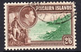 Pitcairn GVI 1940-51 2/6d Christan & Island Coast Definitive, Used, SG 8 - Stamps