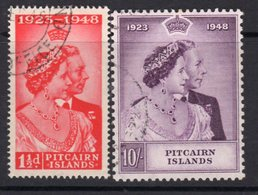 Pitcairn GVI 1948 Royal Silver Wedding RSW Set Of 2, Used, SG 11/12 - Stamps