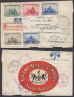 Belgique - Lettre Recommandé 10/06/1938 COB 472 + 473 + 474 + 475 X2  De Anvers Vers USA (DD) DC2735 - Belgique