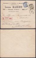 Belgique - Fine Barbe Lettre Recommandé 29/12/1900 COB 59 + 60 De Jette  (DD) DC2737 - 1893-1800 Fijne Baard